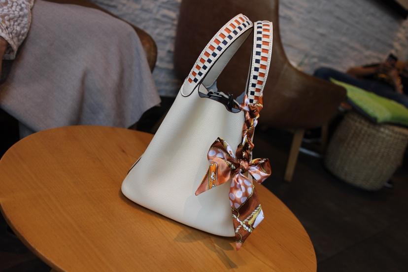 2018 New Replcia Hermes Picotin Lock Bag 22cm 24cm with Braided Handles Empsom Calfskin White