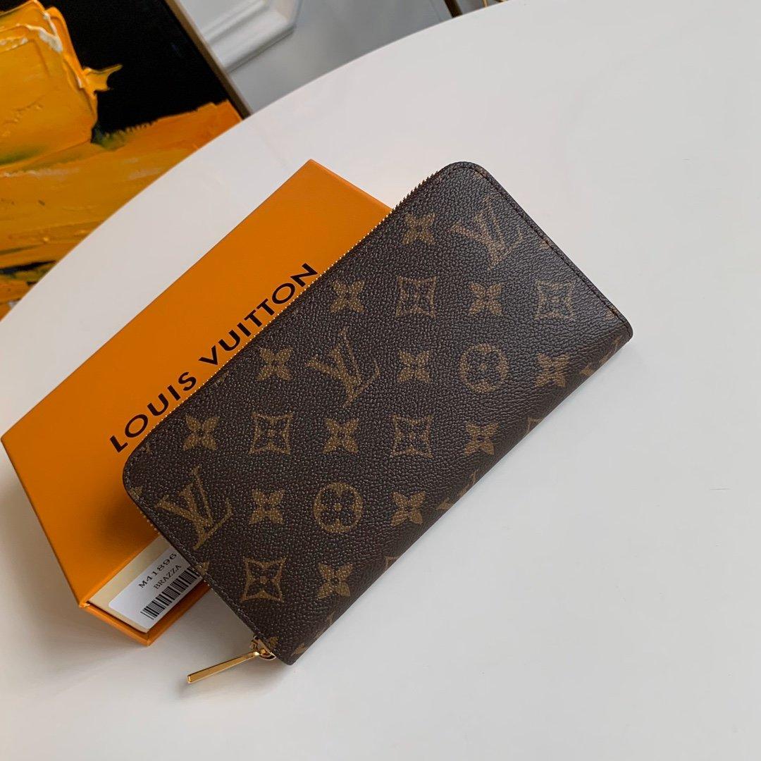 AAA Louis Vuitton M41896 Zippy Wallet Monogram Red