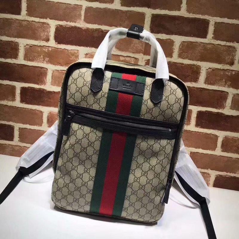 AAA Replica Gucci 495558 GG Supreme Men Backpack