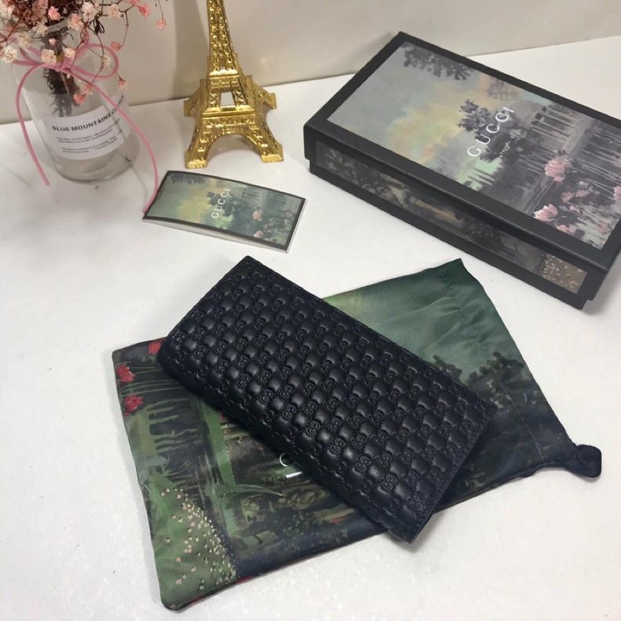 AAA Replica Gucci Mens Gucci Signature Soft Black Wallet 449245