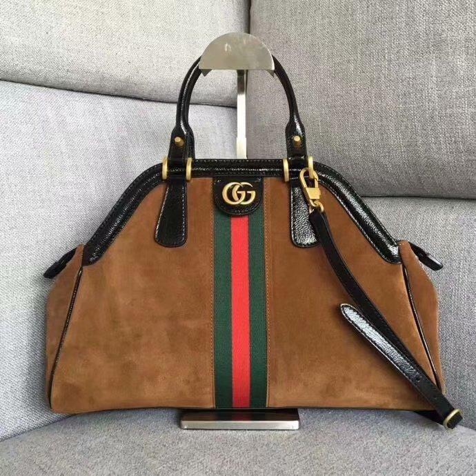 AAA Replica Gucci RE(BELLE) Top Handle Bag Coffee