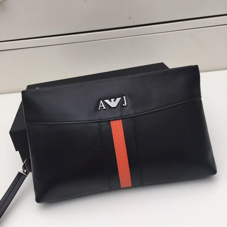 Armani 512 Men Leather Clutch Bag