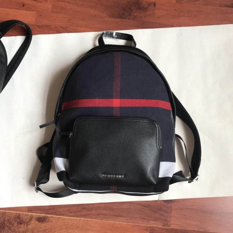 Best Price Burberry Men and Women Classics Backpack Black