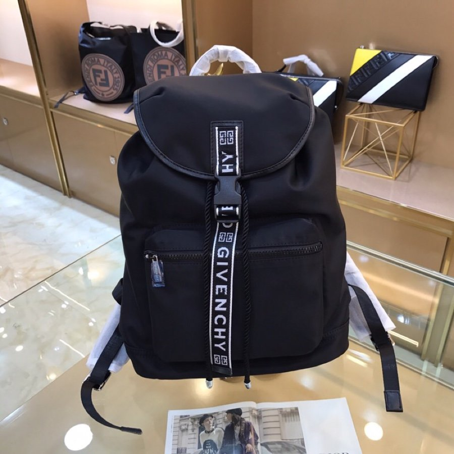 Best Price Givenchy 4G LOGO Men Backpack Black Nylon