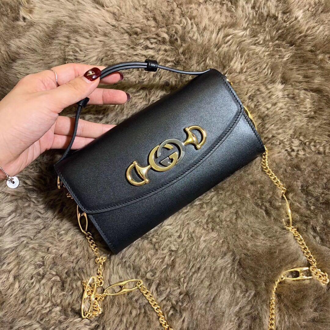 Best Price Gucci 564718 Zumi Smooth Leather Mini Bag Black