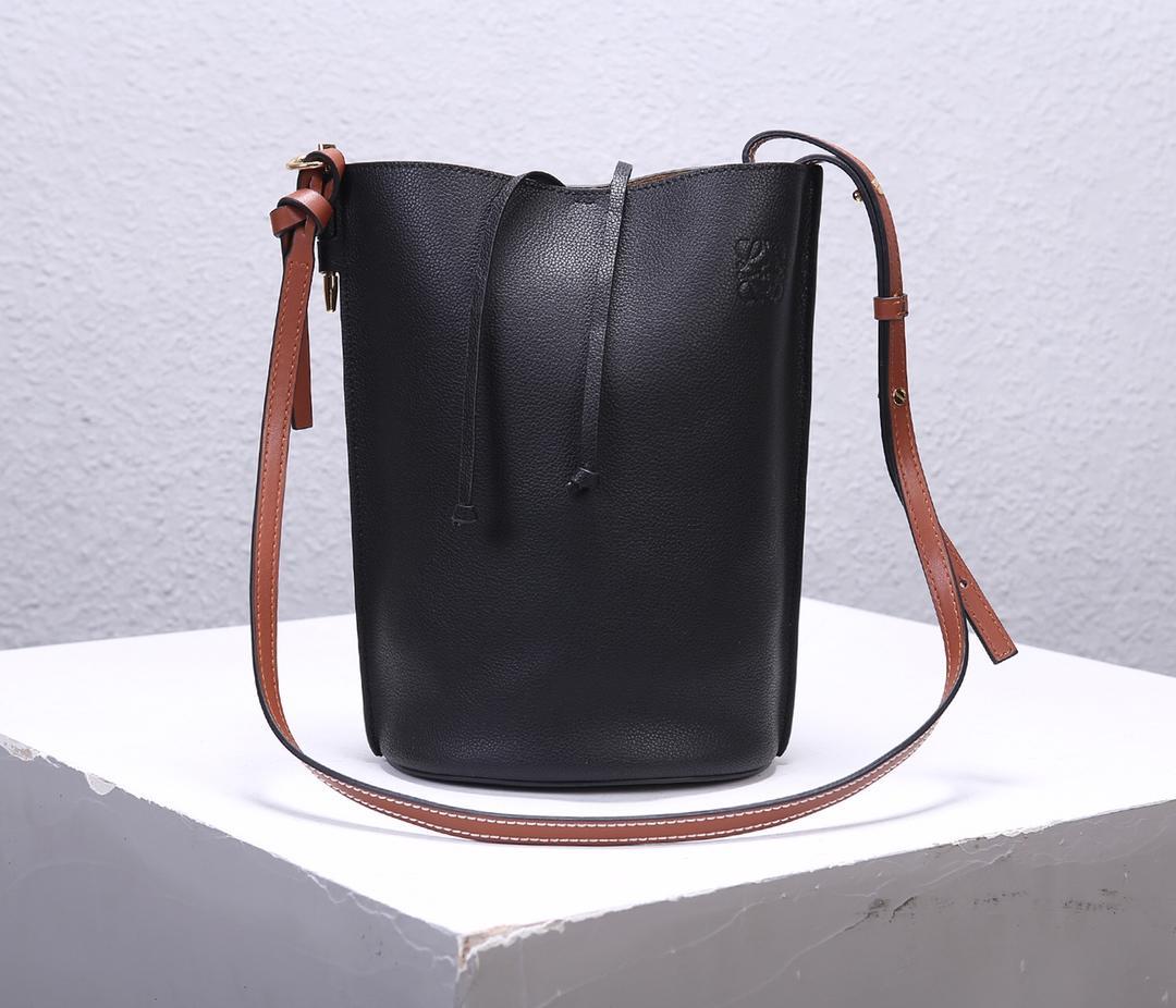 Best Price Loewe Women Gate Bucket Bag Forest Black