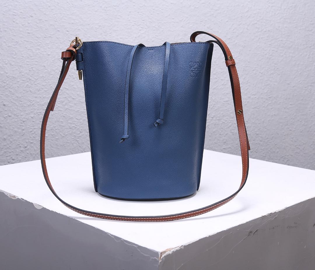 Best Price Loewe Women Gate Bucket Bag Forest Blue