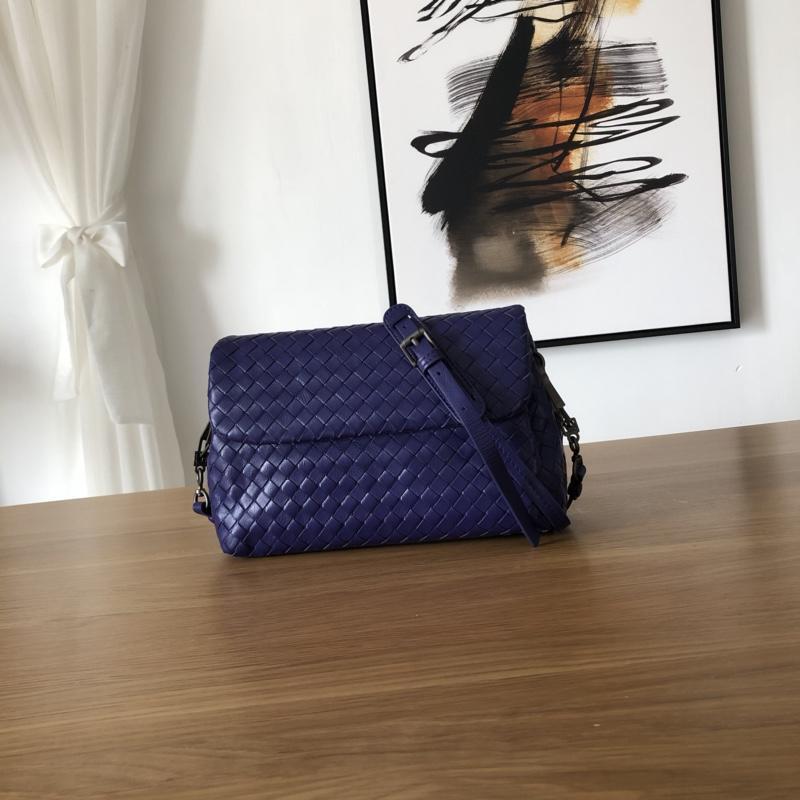 Bottega Veneta Women Small Messenger Bag Dark Blue