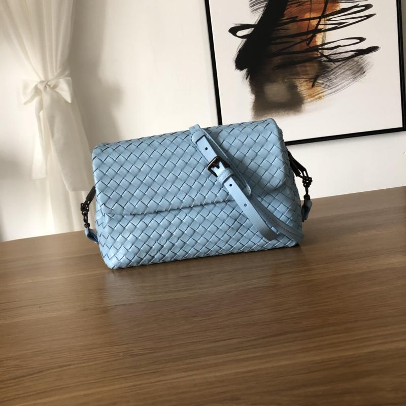 Bottega Veneta Women Small Messenger Bag Light Blue