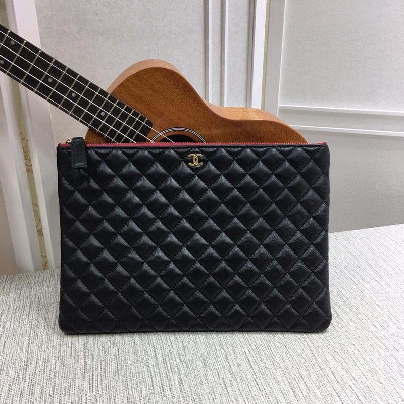 Chanel A82545 Case Pouch Goatskin Gold Tone Metal