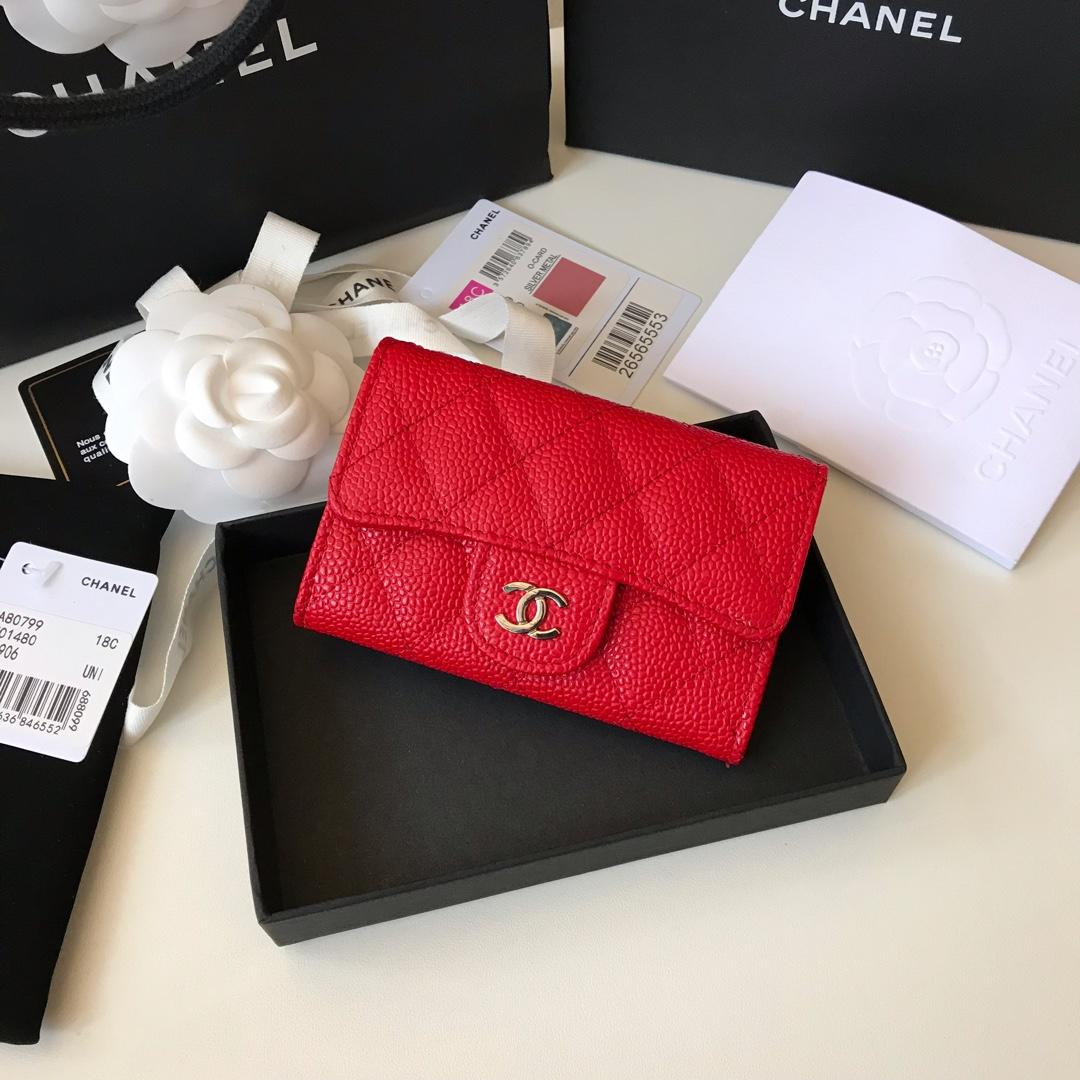 Cheap Chanel CF Card Small Bag Caviar Quilted Genuine Leather Dark Red Silver Hardware
