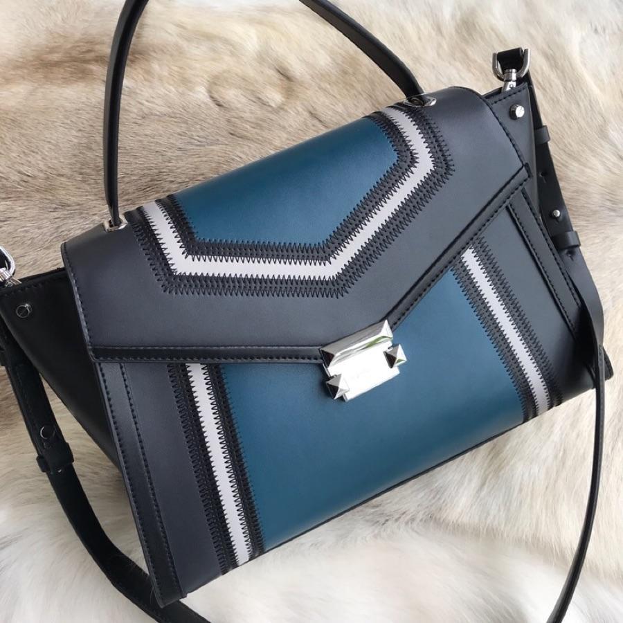 Cheap Michael Kors Women Whitney Medium Stitching Handbag Blue