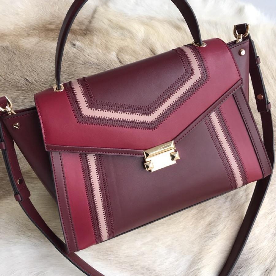 Cheap Michael Kors Women Whitney Medium Stitching Handbag Rose