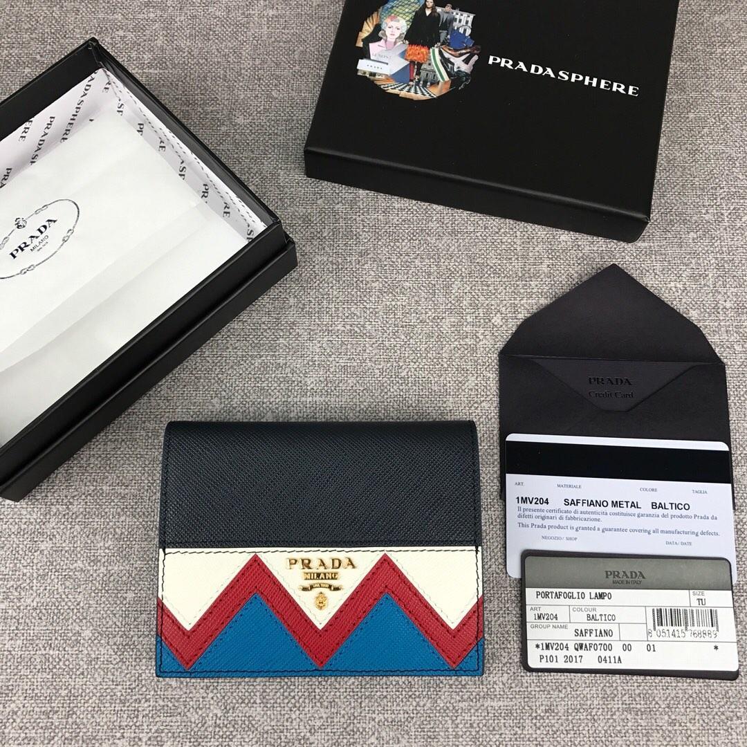 Cheap Prada 1MV204 Women Wallet Small Leather Wallet Black