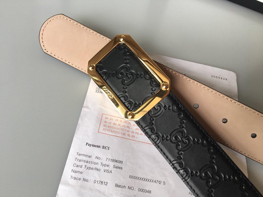 Cheap Replica Gucci Reversible Men Leather Belt Width 3.8cm 121