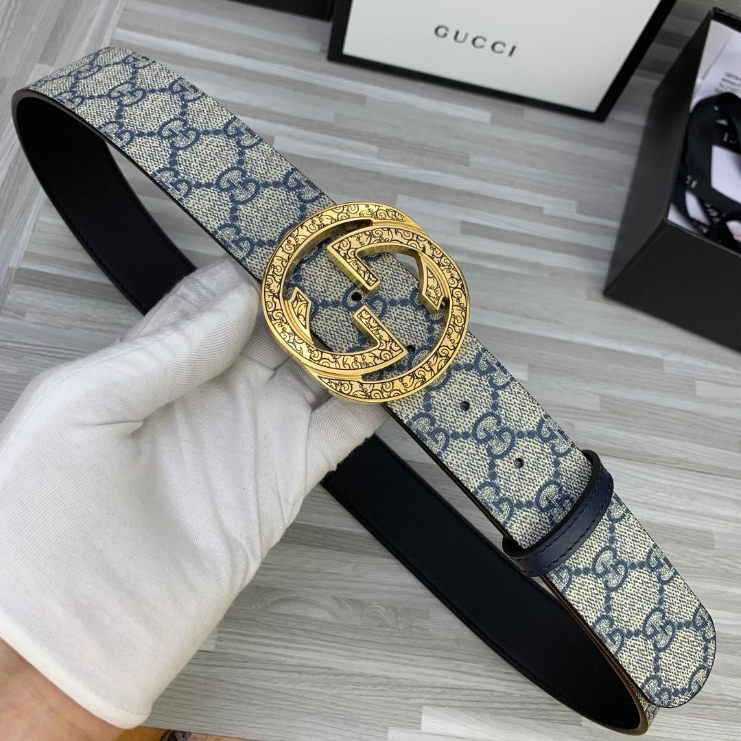 Cheap Replica Gucci Reversible Men Leather Belt Width 4cm 115