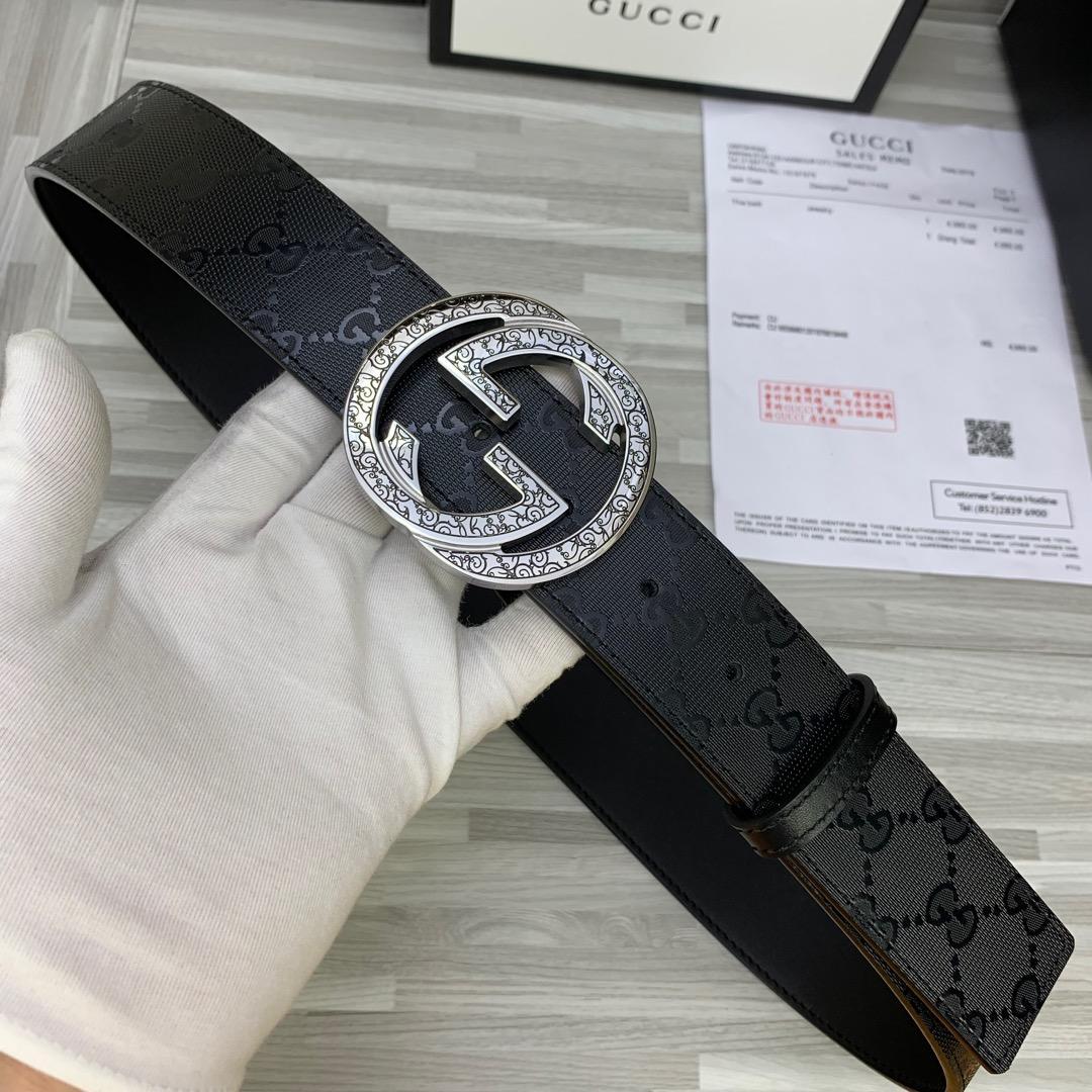 Cheap Replica Gucci Reversible Men Leather Belt Width 4cm 117
