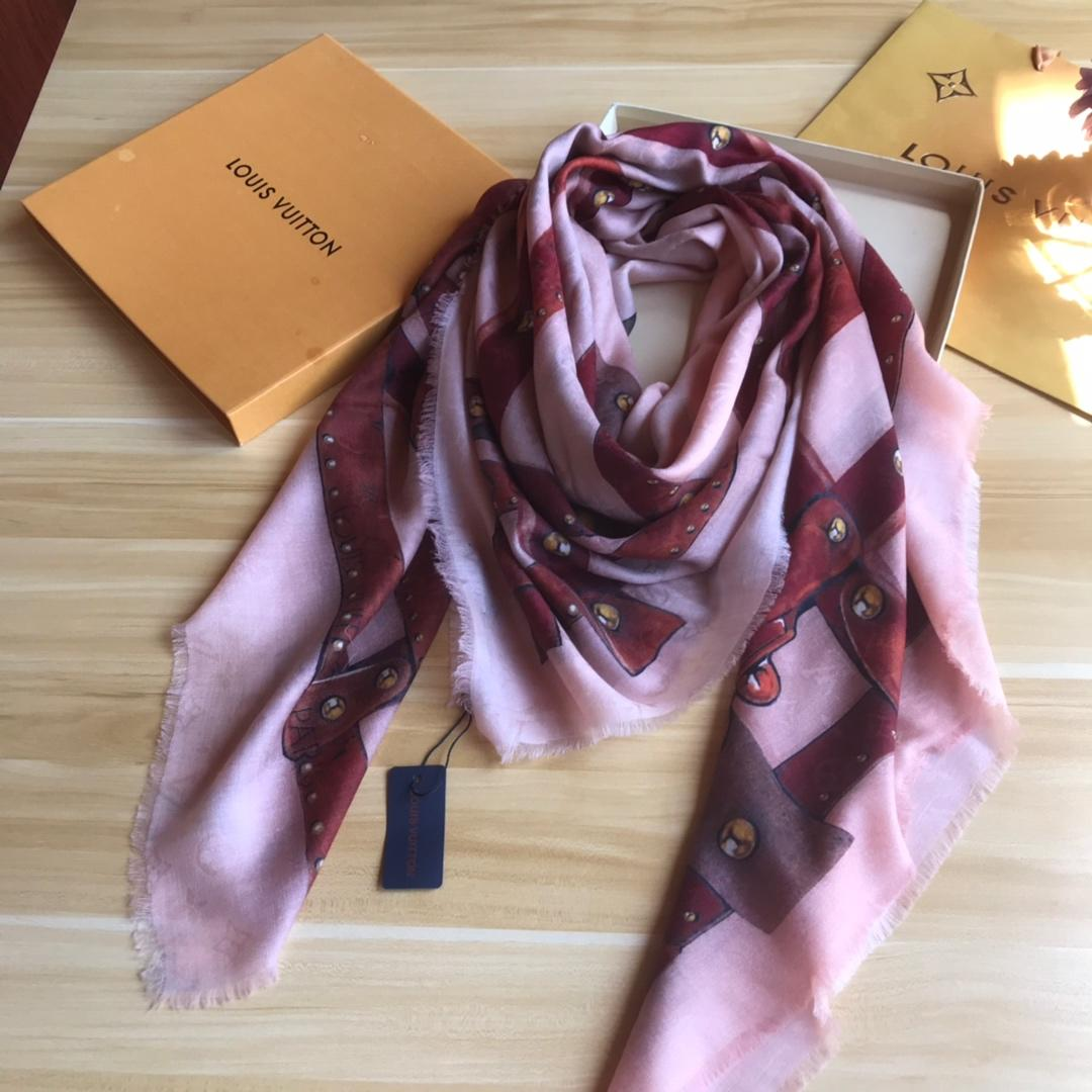 Cheap Replica Louis Vuitton Women Cashmere Scarf 0007