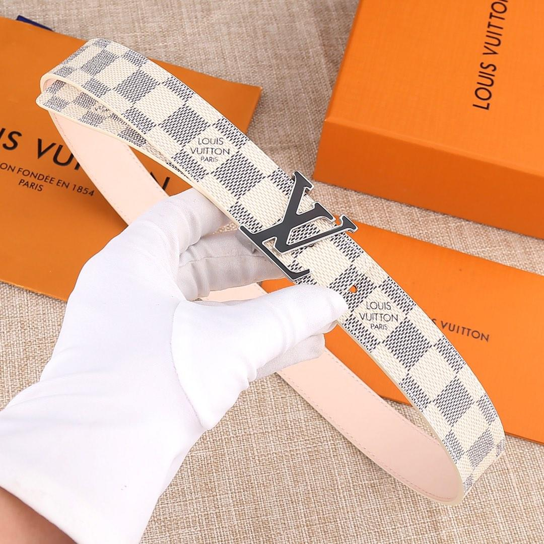 Cheap Replica Louis Vuitton Women Leather Belt Width 3.0cm 069