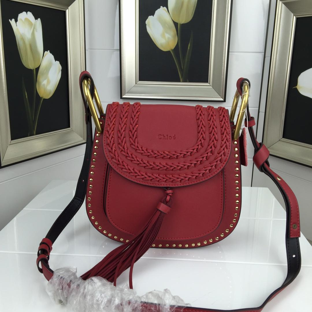 Chloe Marcle Small Shoulder Bag Grained Calfskin Red