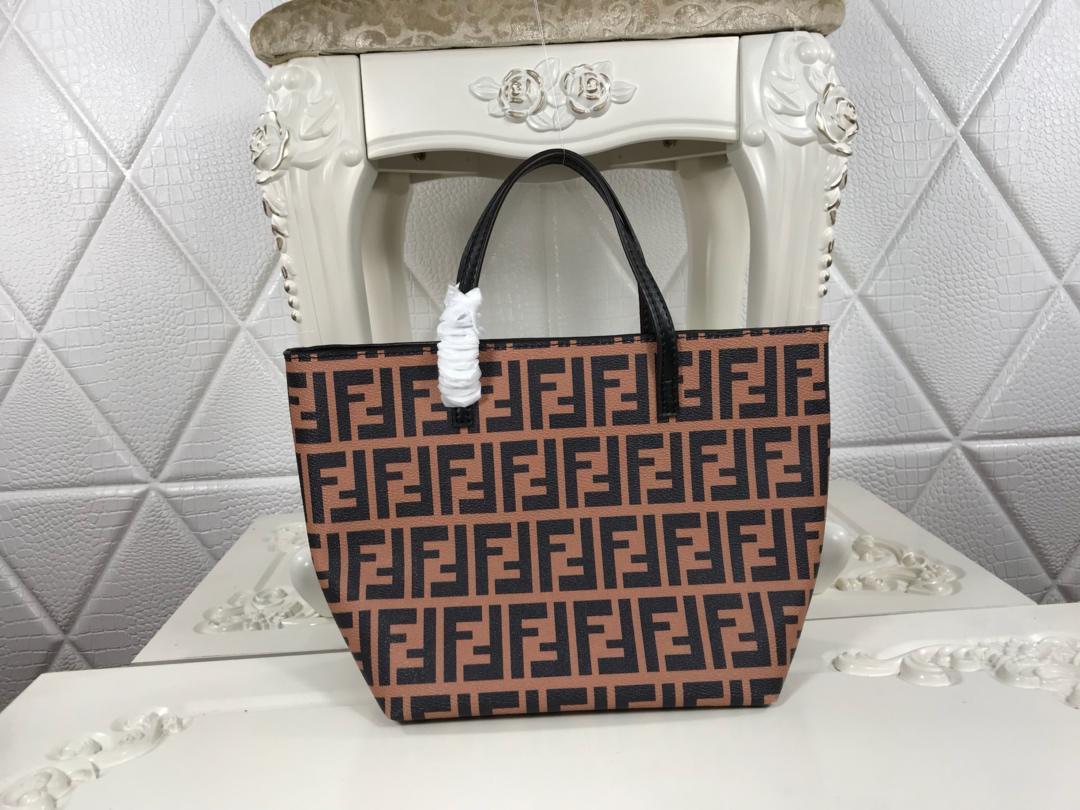 Copy Fendi Women Shopping Bag with FF Motif