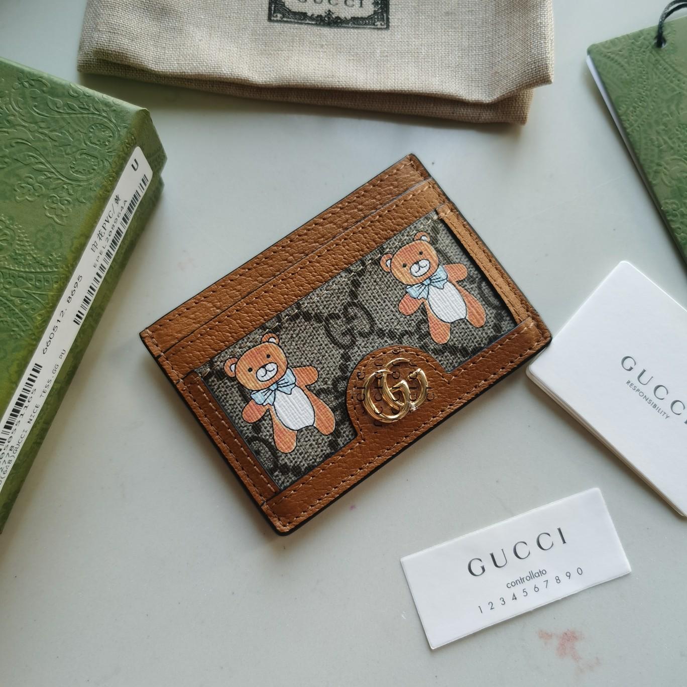Copy Gucci 660512 GG Monogram Unisex Logo Card Holders
