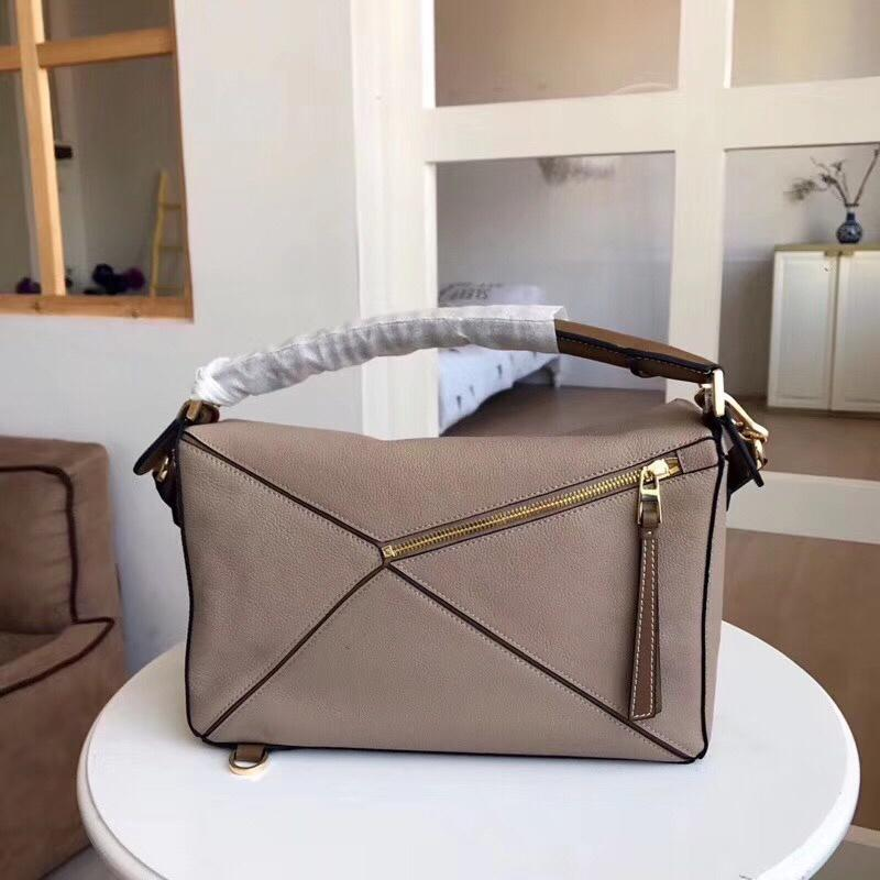 Copy Loewe Puzzle Bag 29cm and 24cm Sand Soft Grained Calf Sand Mink