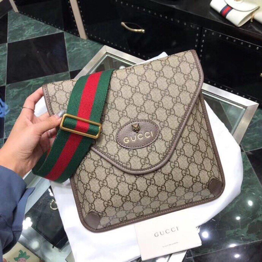 Fake Gucci Men Neo Vintage GG Medium Messenger Bag