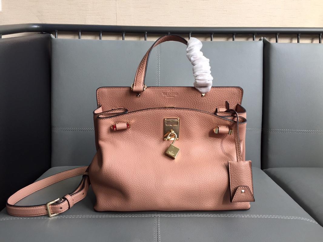 Fake Valentino 2018 New Women Tote Bag Calfskin Pink