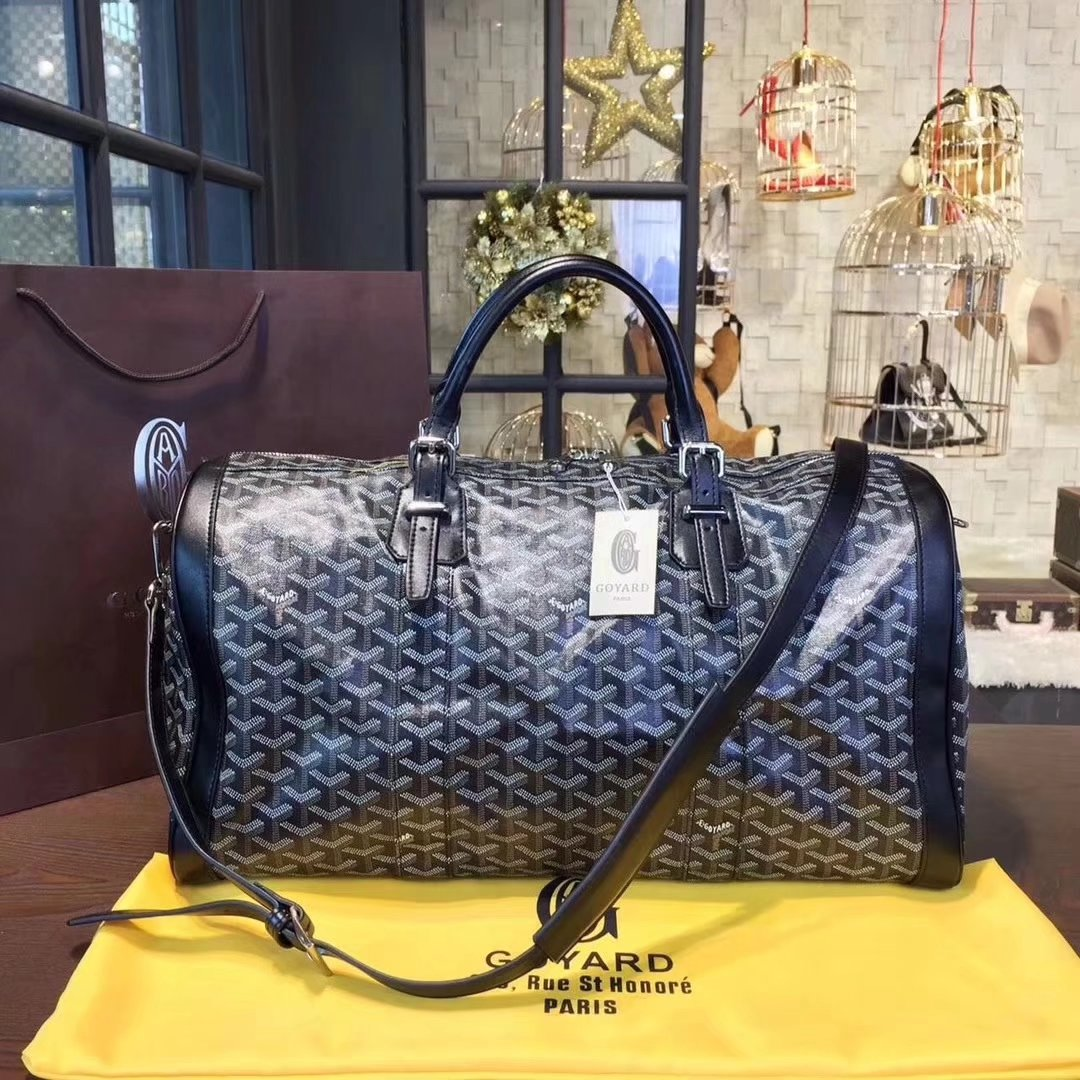 Goyard Luggage Boeing Travelling Bag Black