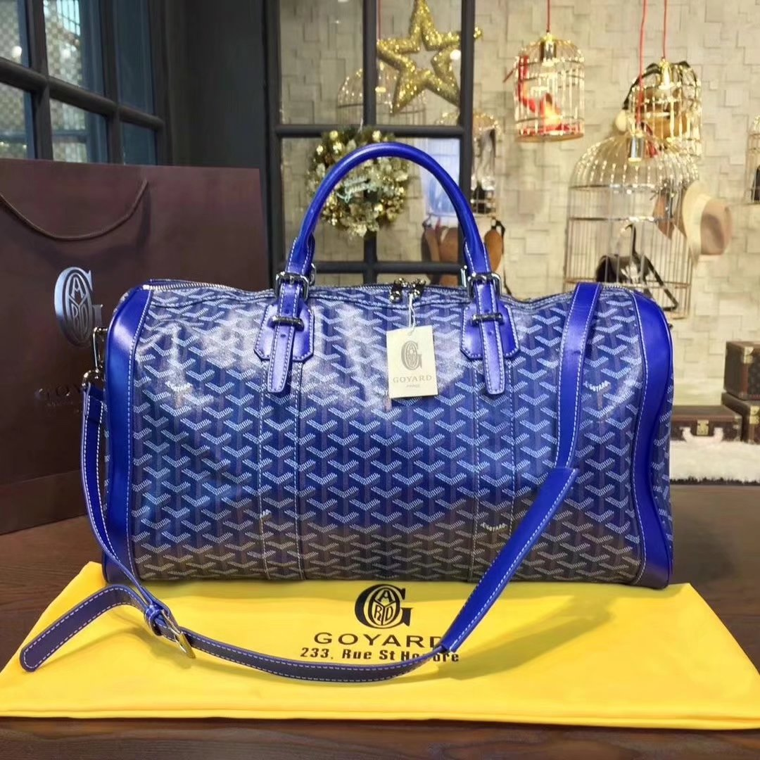 Goyard Luggage Boeing Travelling Bag Blue