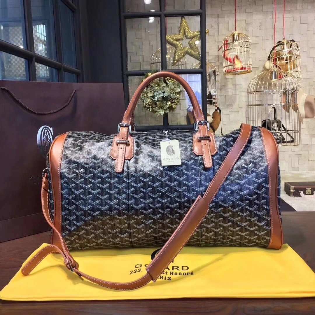 Goyard Luggage Boeing Travelling Bag Coffee