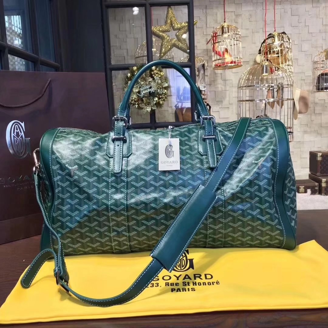 Goyard Luggage Boeing Travelling Bag Green