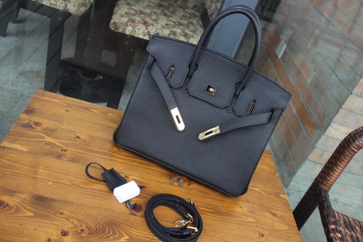 Hermes Birkin Togo Calfskin Handbag 30cm Black