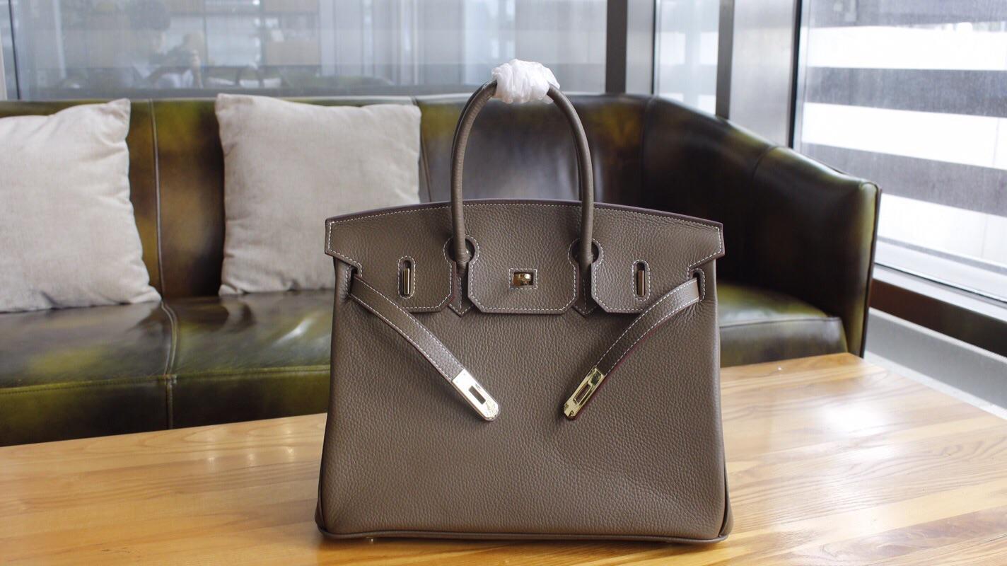 Hermes Birkin Togo Calfskin Handbag 30cm and 35cm Dark Grey