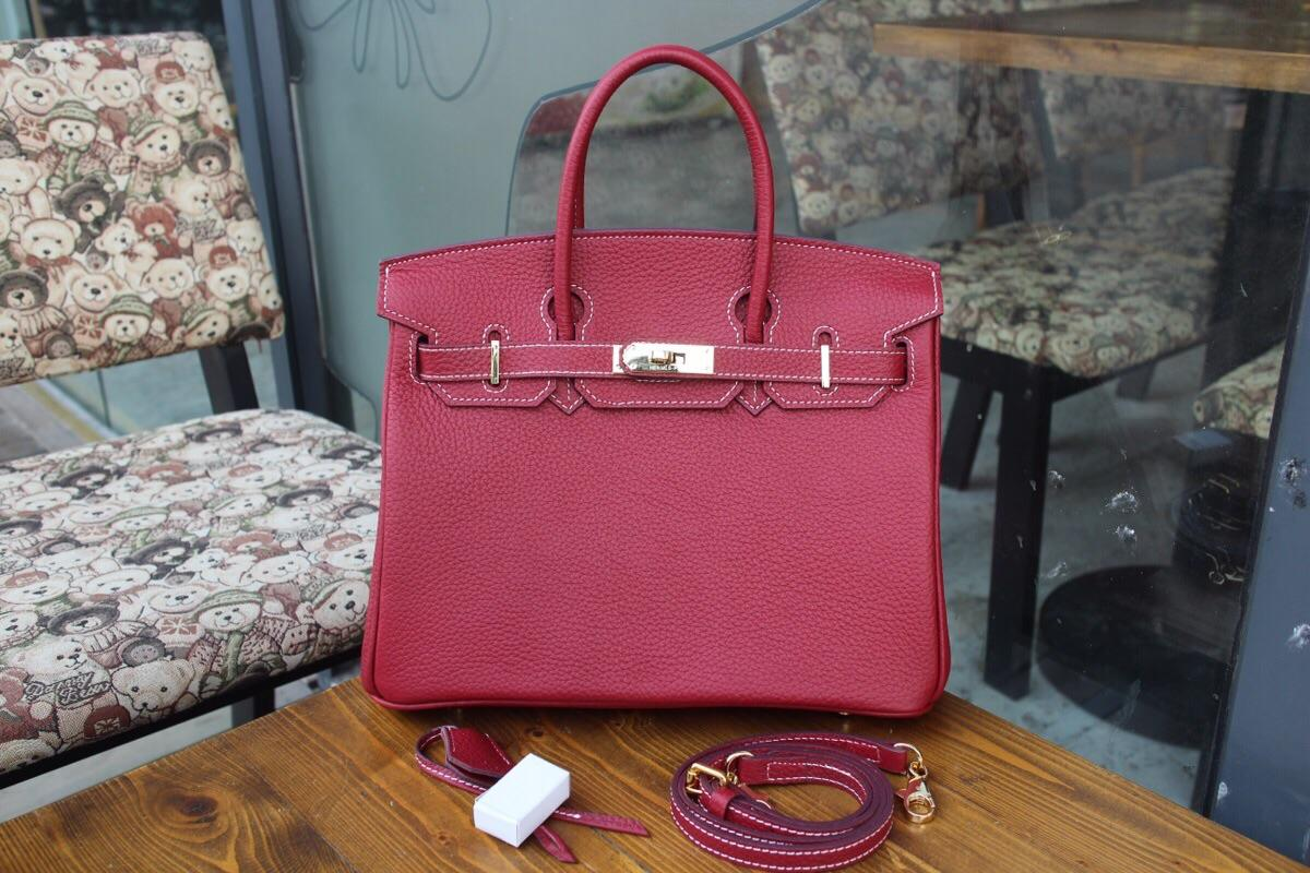 Hermes Birkin Togo Calfskin Handbag 30cm and 35cm Red