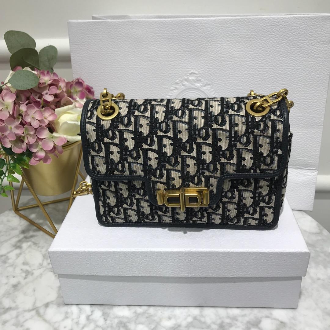 High Quality Dior Oblique Saddle Women Shoulder Bag
