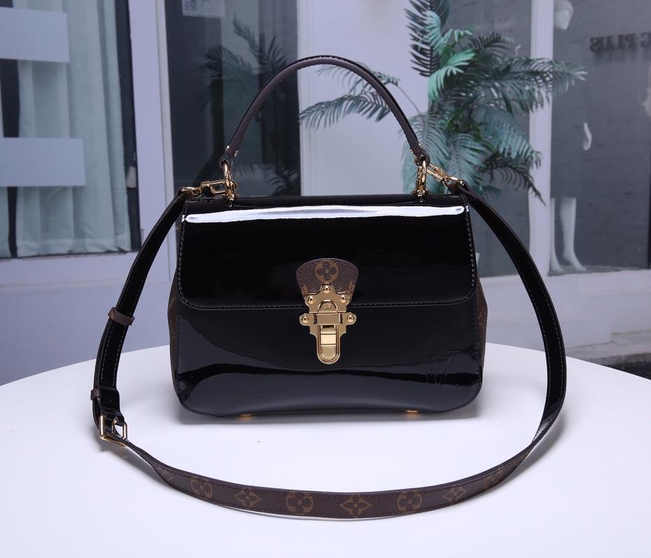 Louis Vuitton M53353 Cherrywood Handbag and Removable Strap Monogram Canvas Noir