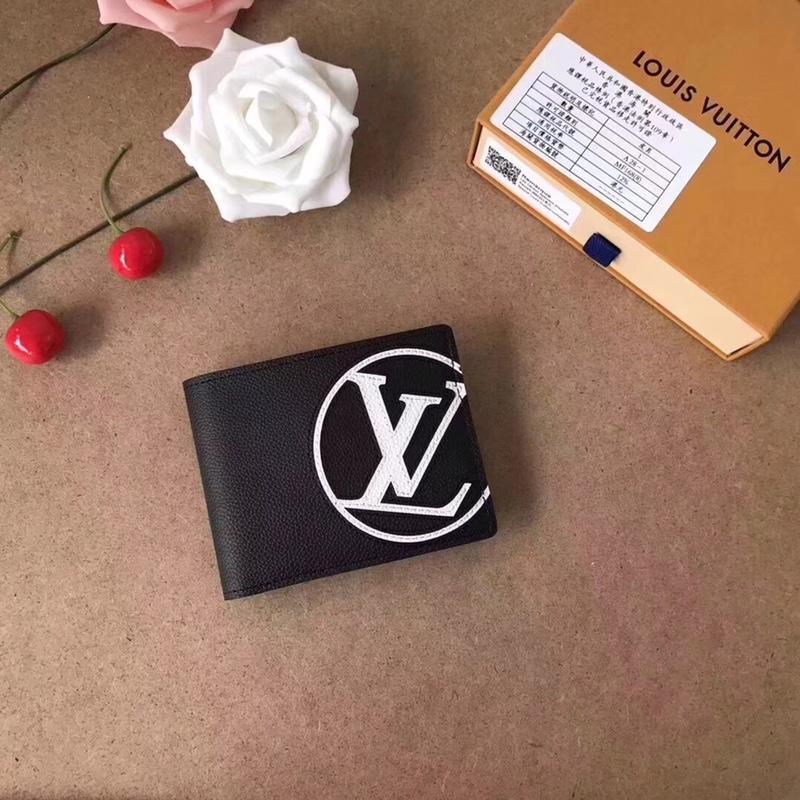 Louis Vuitton M67742 Multiple Wallet Taurillon Leather Initials