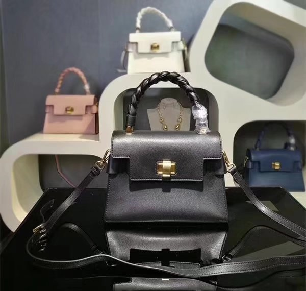 MiuMiu 6812 Women Leather Handbag Black