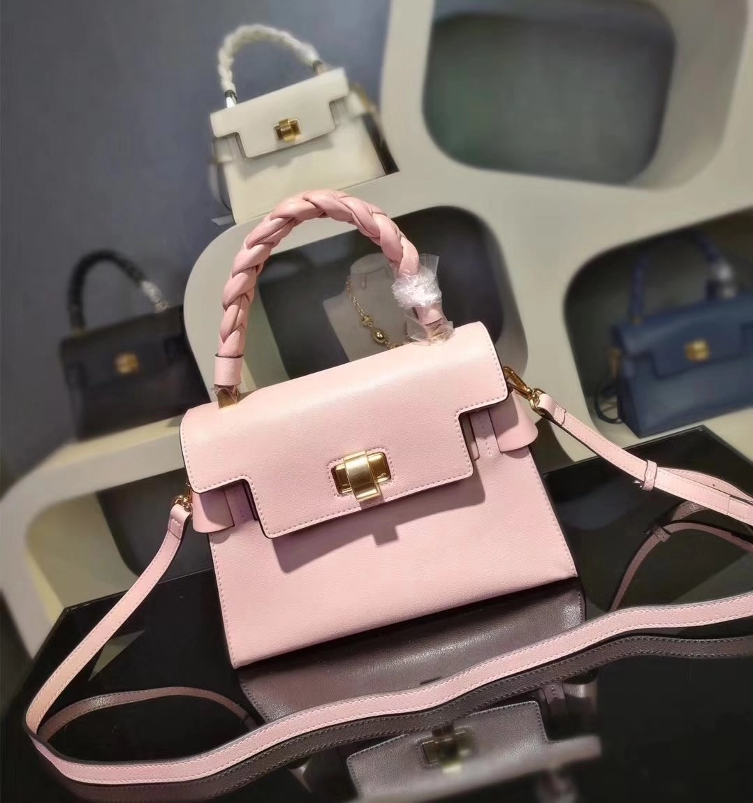 MiuMiu 6812 Women Leather Handbag Pink