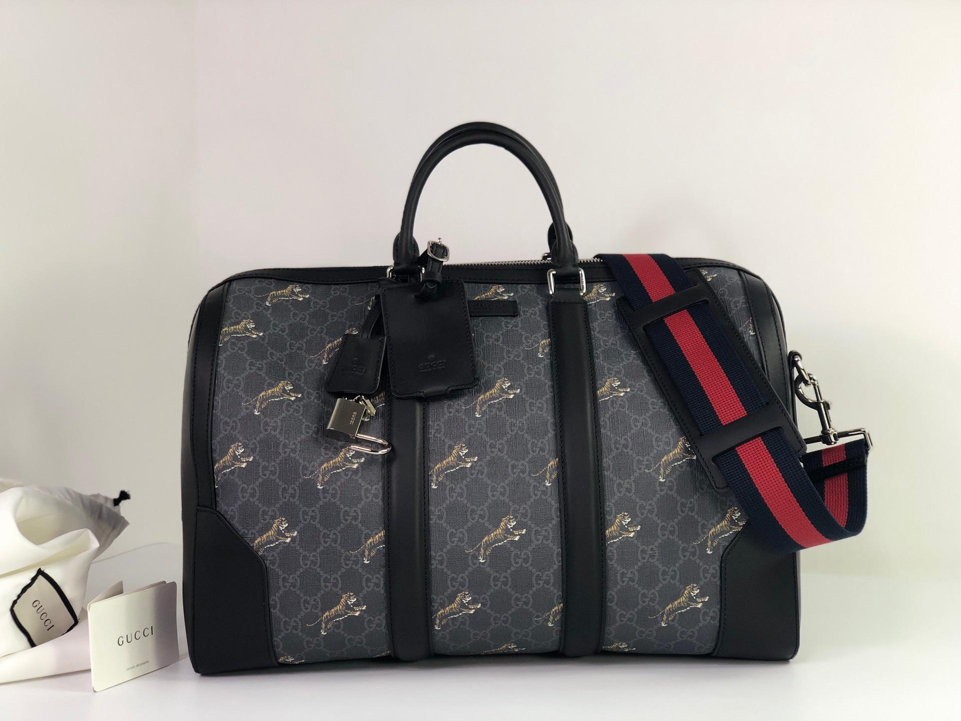 New Replica Gucci 478323 Men Soft GG Supreme Tigers Carry-on Duffle