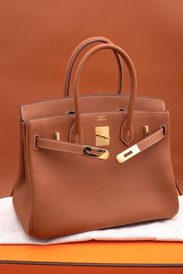 Original Copy Hermes Birkin 35cm Handbag Light Coffee with Gold