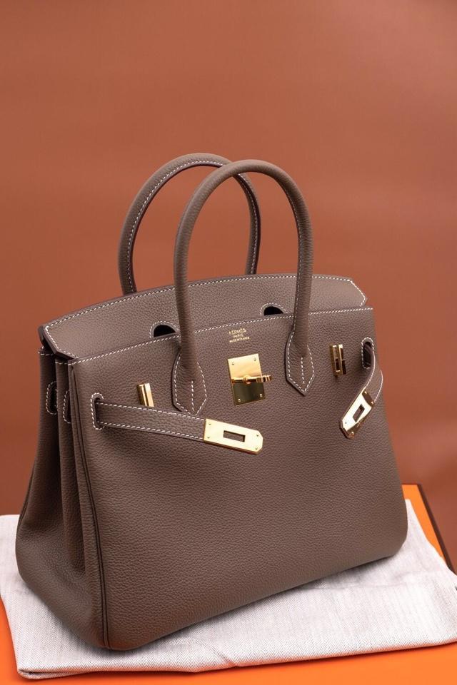 Original Copy Hermes Birkin 35cm Handbag Light Gray