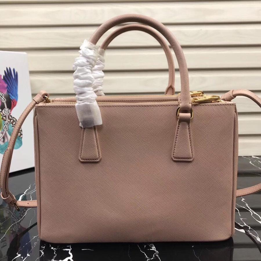 Original Copy Prada Galleria Small Saffiano Leather Bag Light Pink 1BA863