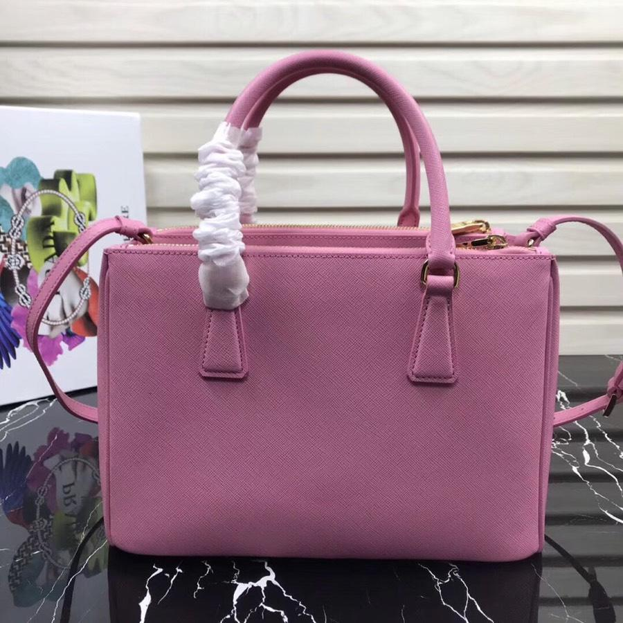 Original Copy Prada Galleria Small Saffiano Leather Bag Pink 1BA863