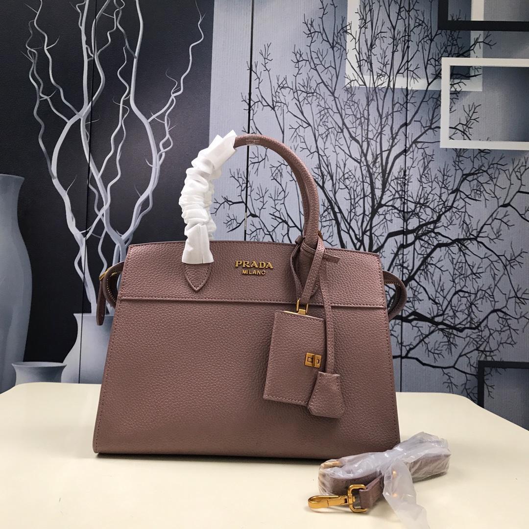 Prada 1BA047 Women Esplanade Leather Bag Rose