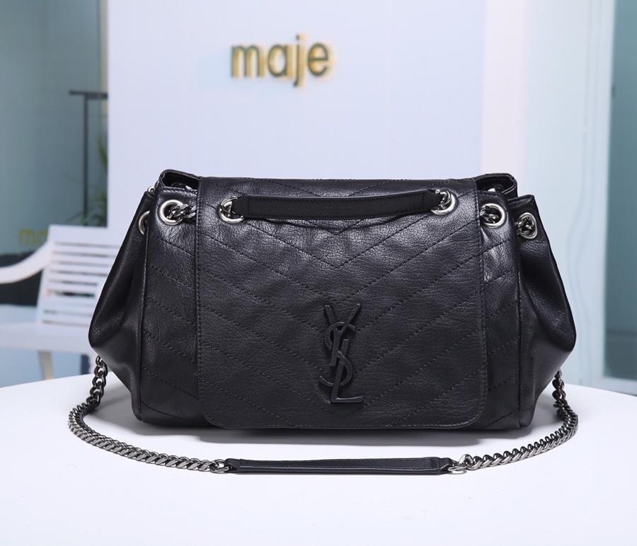 Replcai Saint Laurent Nolita Handbag in Vintag Leather Black