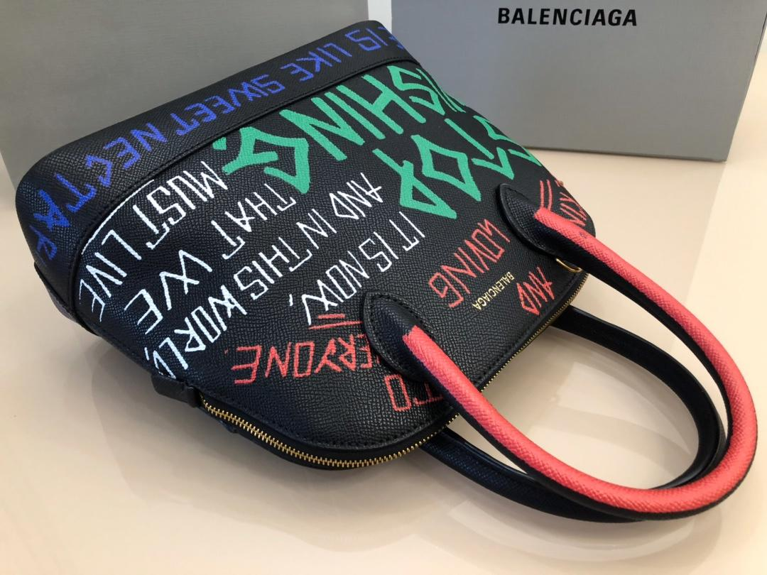 Replica Balenciaga Ville Top Handle Bag Grained Calfskin