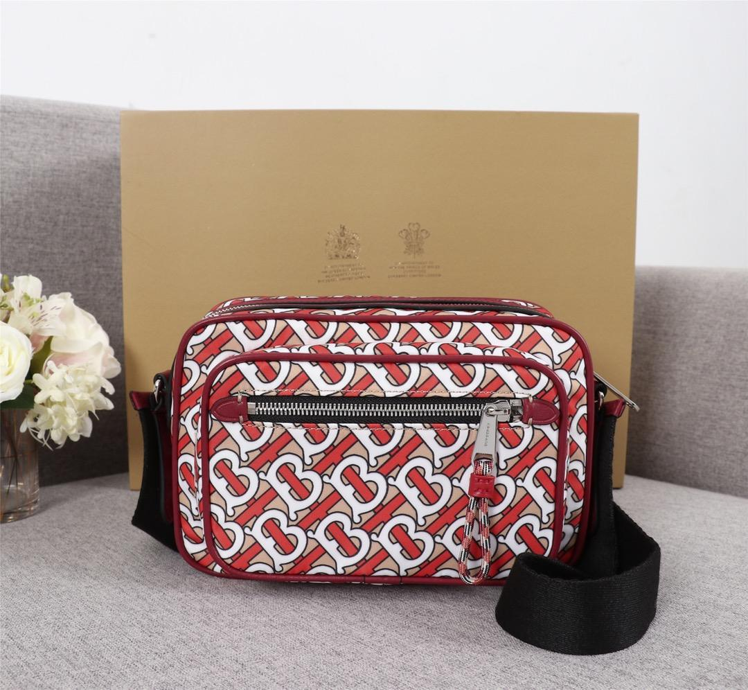 Replica Burberry Men 80116771 Monogram Print and Leather Crossbody Bag
